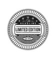 monochrome retro badge design vector image vector image