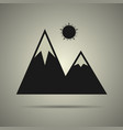 mountain icon isolated vector image