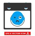 Newborn Head Calendar Page Eps Icon vector image vector image