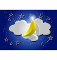 night sky moon and stars vector image vector image