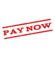 Pay Now Watermark Stamp vector image