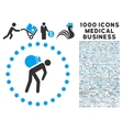 Porter Icon with 1000 Medical Business Symbols vector image vector image