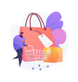 purchasing habits abstract concept vector image vector image