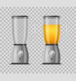 realistic 3d detailed juicer blender set vector image vector image