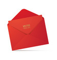 red envelope isolated on background vector image vector image