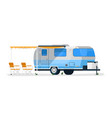 rv trailer isolated camper vehicle mobile home vector image