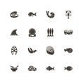sea food - flat icons vector image vector image