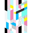 seamless geometric pattern Memphis Style vector image