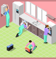 service centre isometric background