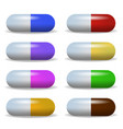set image multicolored tablet lying in a two row vector image