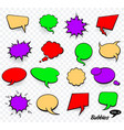 set of blank template in pop art style comic text vector image vector image