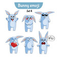 set of cute rabbit characters set 4 vector image