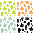 Set of seamless backgrounds with leaves vector image