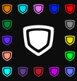 shield icon sign Lots of colorful symbols for your vector image