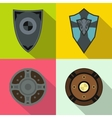 Shields banners set flat style vector image vector image