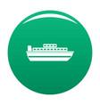 ship travel cruise icon green vector image