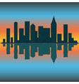 skyline wallpaper with skyscrapers in sunset or vector image vector image