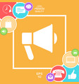 speaker bullhorn icon vector image