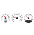 speedometer scales on white background vector image vector image