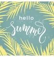 Summer mood Lettering design on palm background vector image