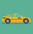 Taxi car flat design vector image