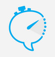 time chat icon in shape of clock with minute hand vector image vector image