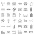 traffic icons set outline style vector image vector image