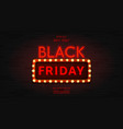 web banner for black friday sale vector image vector image