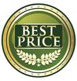 Best Price Green Label vector image