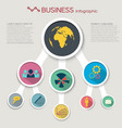 abstract flat business infographic concept vector image