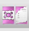 abstract triangle brochure flyer design in a4 vector image