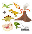 age dinosaurs banner with prehistoric predators vector image