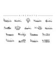 aircrafts concept line style icons set vector image vector image