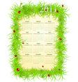 American spring 2011 calendar vector image vector image