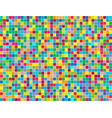 background of colored squares painted in random vector image vector image