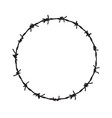 barb wire circle fence frame barbed round vector image