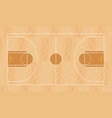 basketball field top view vector image vector image