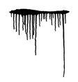 black paint drips vector image