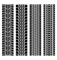 black tire track set 4 vector image vector image