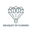bouquet flowers line icon bouquet of vector image vector image
