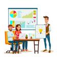 brainstorming process teamwork staff vector image vector image