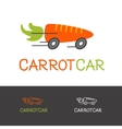 bright carrot logotype Healthy food vector image