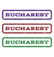 bucharest watermark stamp vector image vector image