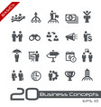business concepts icon set - basics vector image