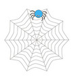 cartoon spider sits on the web vector image vector image