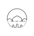 circular outline mosque custom symbol graphic vector image