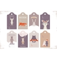 collection of 8 craft christmas gift tags with