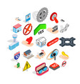 cross icons set isometric style vector image vector image