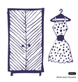 Dress and wardrobe vector image