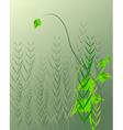 droplets on leaf vector image vector image